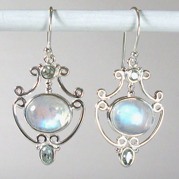 Moonstone Flashy Fancy Earrings