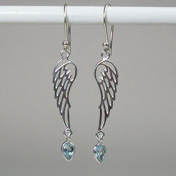 Angel Wings Topaz Earrings