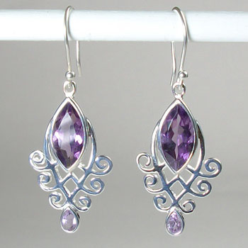 Amethyst Filligree Earrings
