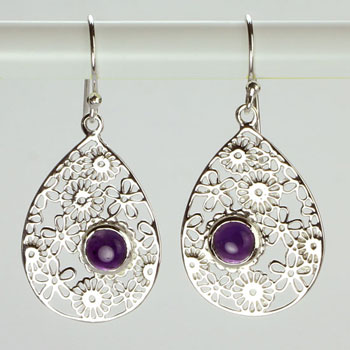 Amethyst Bouquet Earrings