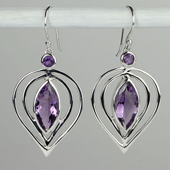 Amethyst Femme Fatale Earrings