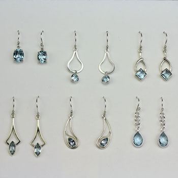 Blue Topaz Earrings Assortment