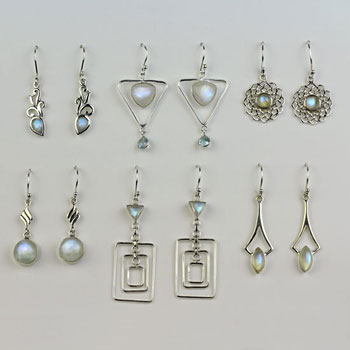Moonstone 6 Earrings Assortment