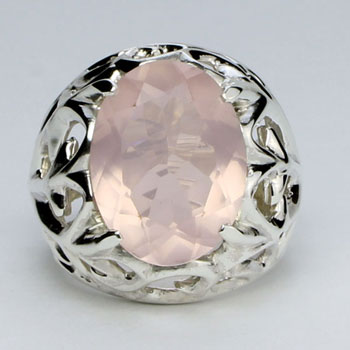 Rose Quartz Royal Rose Twigs Ring