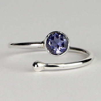 Iolite Adjustable Wrap Ring
