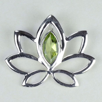 Lotus of the Lake Peridot Pendant