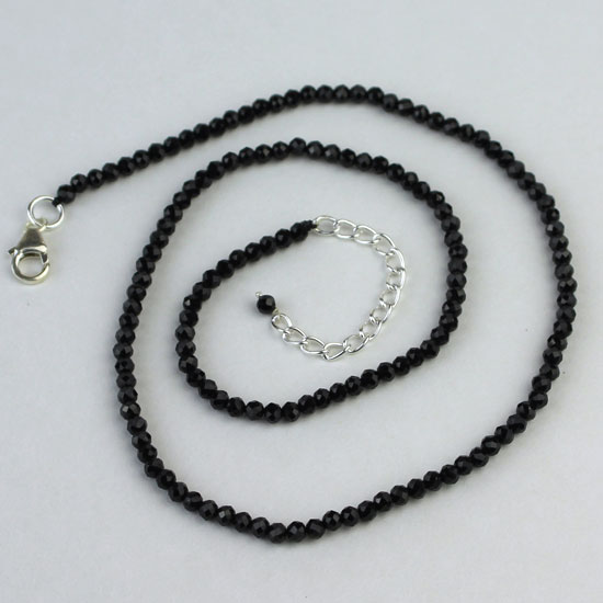 Black Spinel Sparkling Beaded Necklace