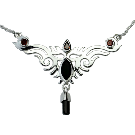 Garnet Celtic Fire Necklace