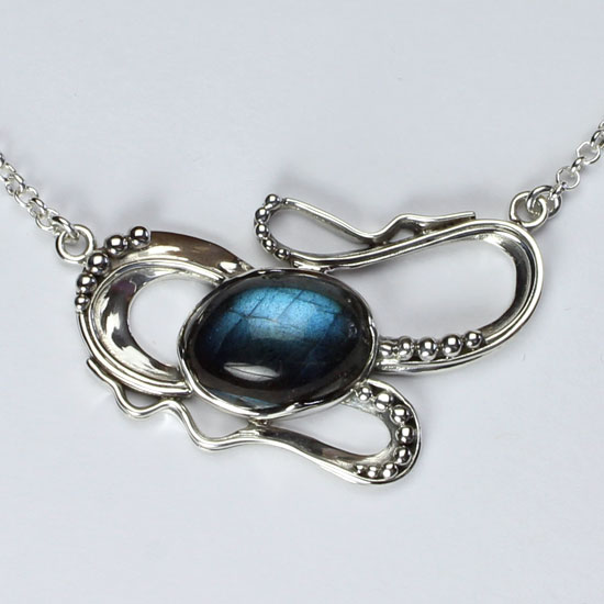 Labradorite Dragon Power Necklace