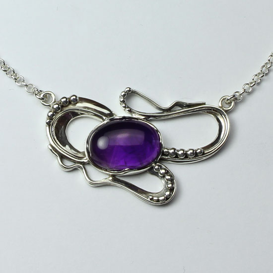 Amethyst Dragon Power Necklace