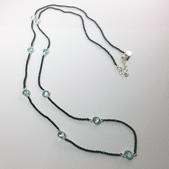 Sassy Spinel & Blue Topaz Necklace