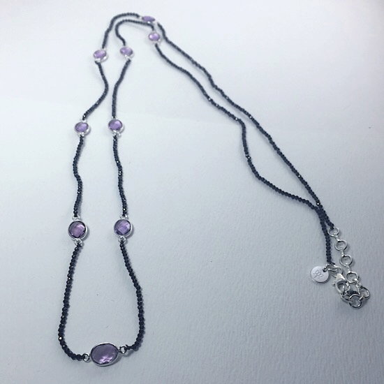 Sassy Spinel & Amethyst Necklace