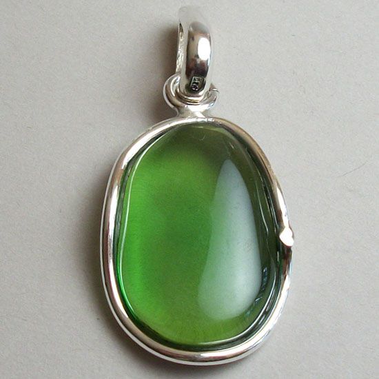 Baltic Amber Apple Green Pendant