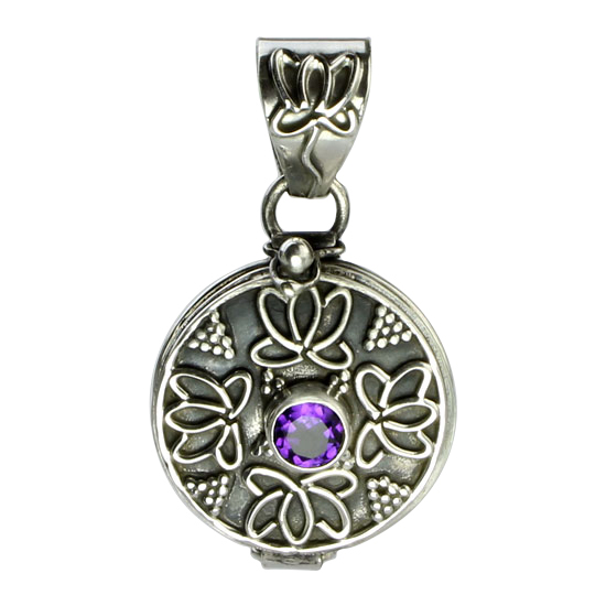 Locket Amethyst Pendant