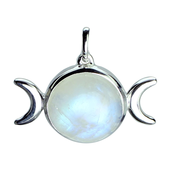 Moonstone Triple Goddess Pendant