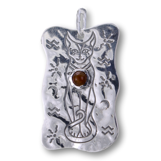 Egyptian Cat Scarab Reversible Carnelian Pendant