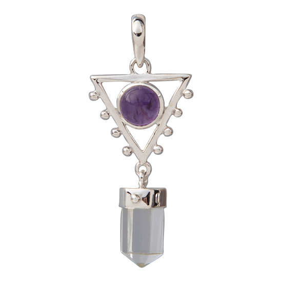 Amethyst Crystal Sacred Elements Pendant
