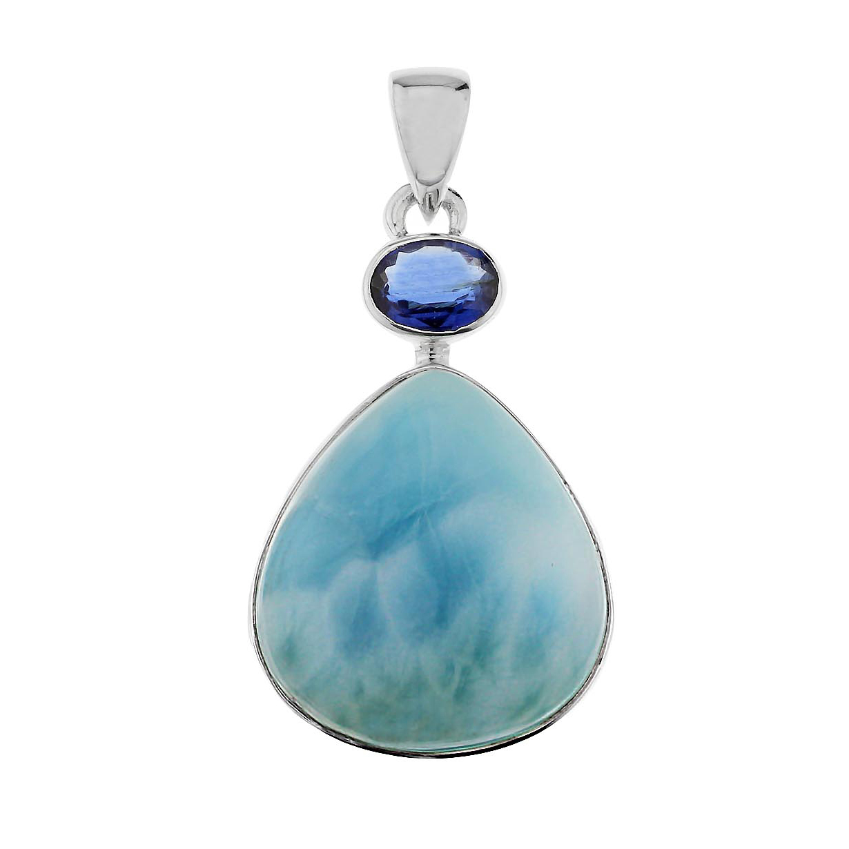 Larimar Kyanite Blue Wonder Pendant