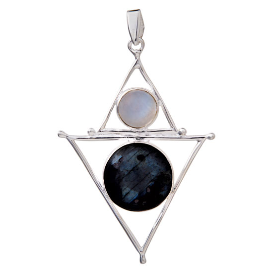 Black Moonstone Mystic Element Pendant