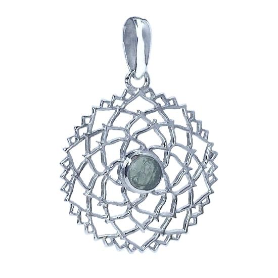 Moldavite Mandala Prendant