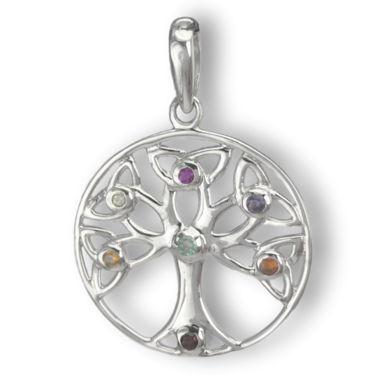 Chakra Celtic Tree of Life Pendant