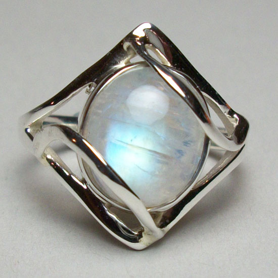 Moonstone Rainbow Ring