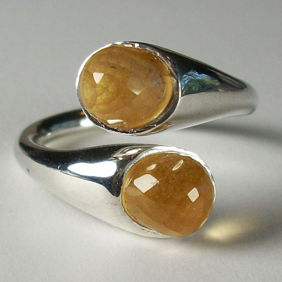 Citrine Buds Adjustable Ring