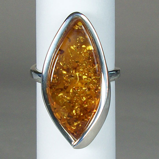 Baltic Amber Majestic Ring