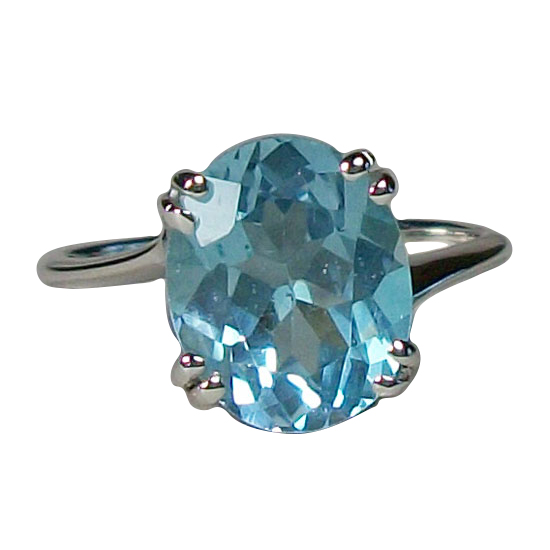 Topaz Blue Awesome Ring