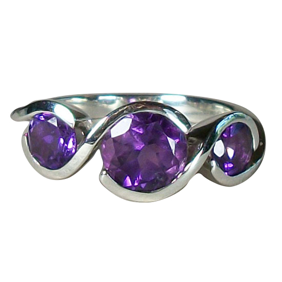 Amethyst Twister Band Ring