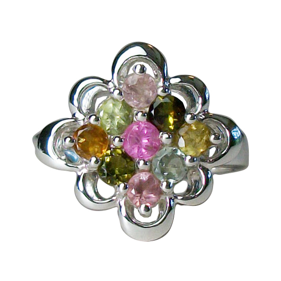 Tourmaline Bouquet Ring