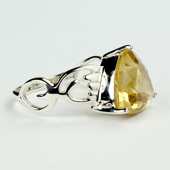 Citrine Fancy Trillion Ring