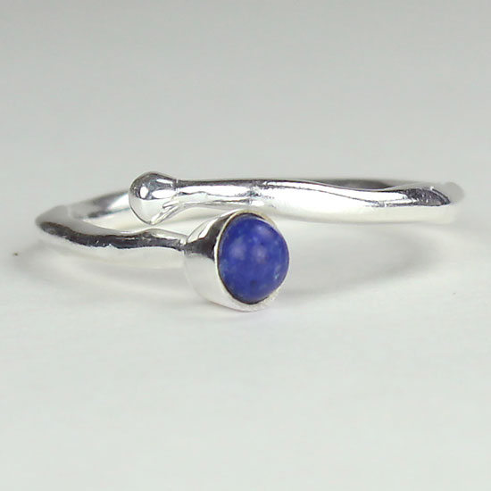 Lapis Adjustable Wrap Ring