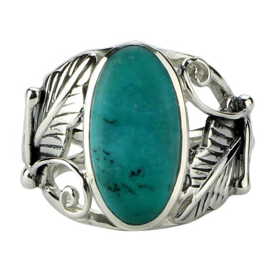 Turquoise Desert Flower Ring