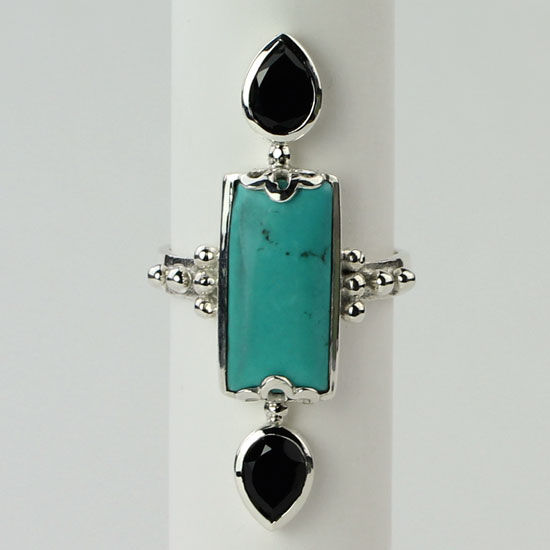 Turquoise Spinel Ring