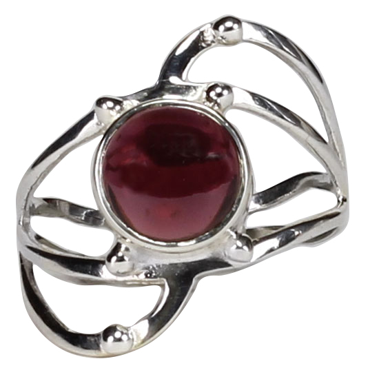 Garnet Spirit Warrior Ring