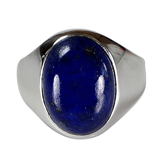 Lapis Oval Unisex Ring
