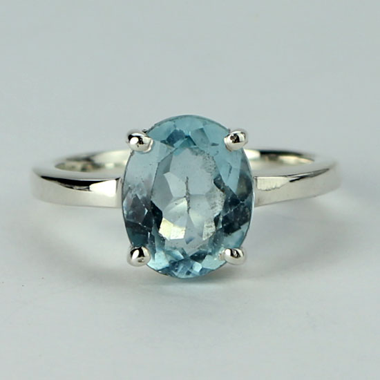 Blue Topaz Splendor Ring