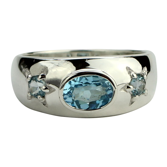 Blue Topaz Starlight Ring