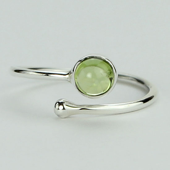 Peridot Adjustable Wrap Ring