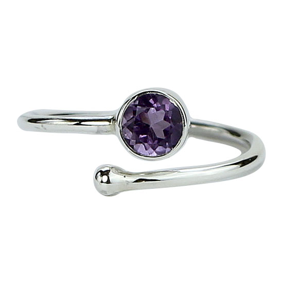 Amethyst Adjustable Wrap Ring