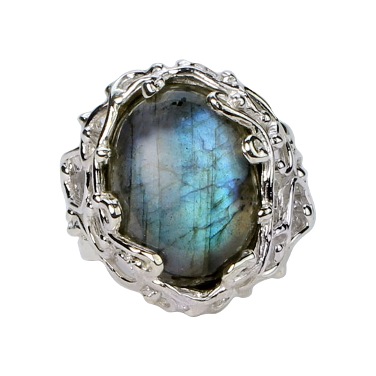 Labradorite Branching Out Ring