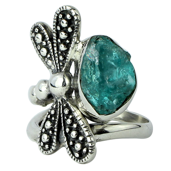 Apatite Rough Dragonfly Ring