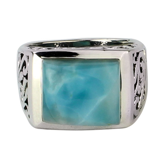 Larimar Filligree Unisex Ring