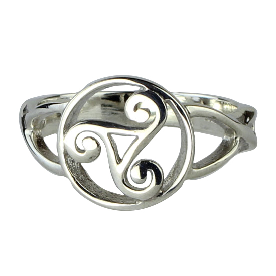 Silver Celtic Triskelion Ring