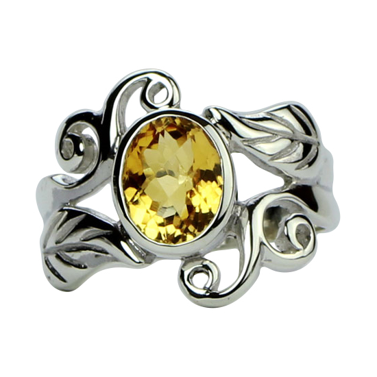 Citrine Harmonious Swirls Ring