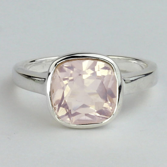 Rose Quartz Quad Ring