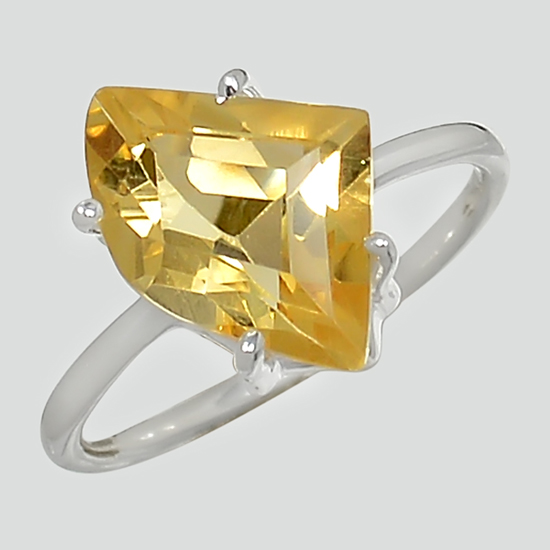 Citrine Free Form Sparkle Ring