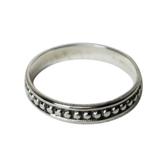Silver Tribal Band Ring