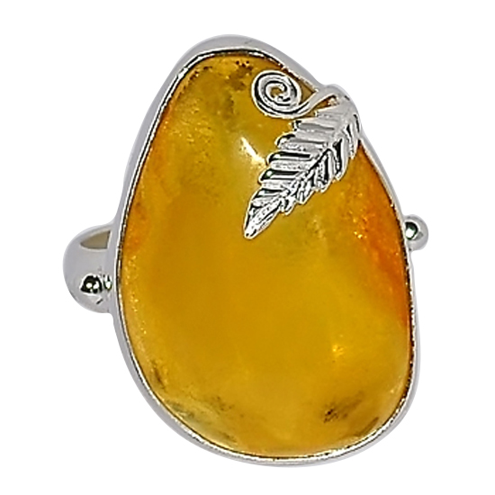 Baltic Amber Ambrosia Ring